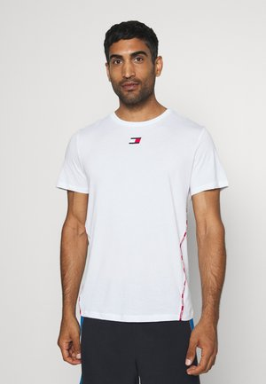 PIPING - Print T-shirt - white