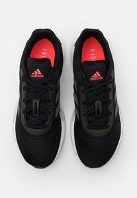 adidas Performance - GALAXAR RUN - Neutral running shoes - core black/grey five/signal pink - 3