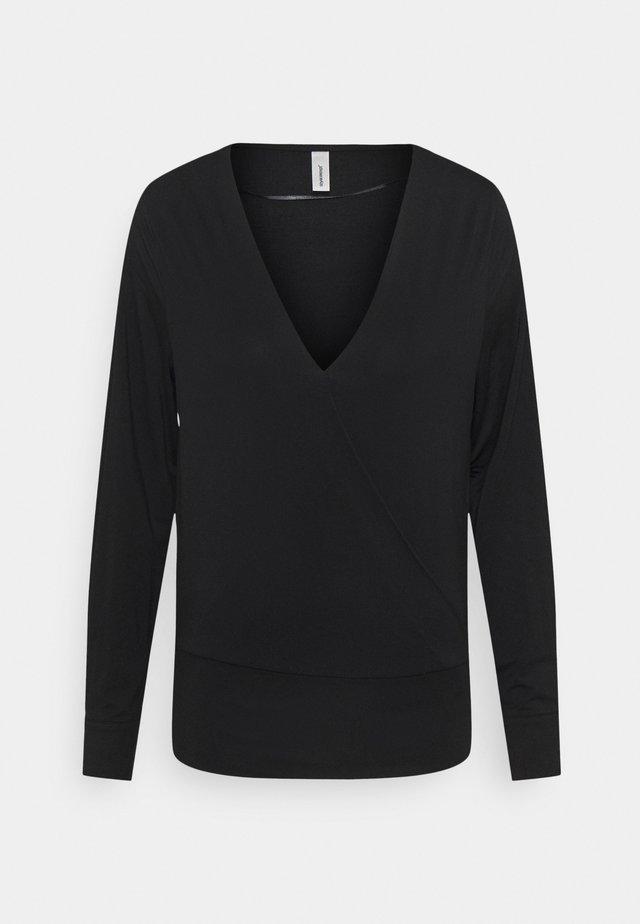 MARICA - T-shirt à manches longues - black