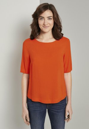 BLOUSE - Blouse - strong flame orange