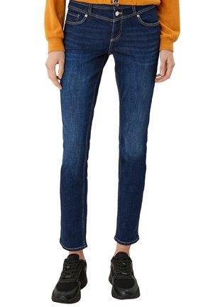 MIT SATTELBUND - Slim fit jeans - dark blue