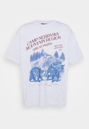 CAMP NEBRASKA - Printtipaita - grey marl