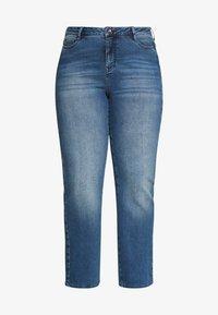 JUNAROSE - by VERO MODA - JRTENJUVA  - Jeans straight leg - medium blue denim - 4