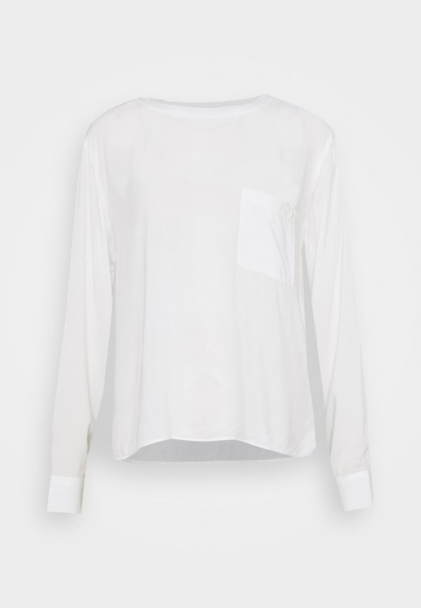 Marc O'Polo DENIM BLOUSE LONGSLEEVE - Bluzka z długim rękawem - scandinavian white/biały YSPN