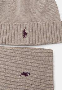 Polo Ralph Lauren - HAT SCARF SET UNISEX - Šála - oatmeal heather - 4