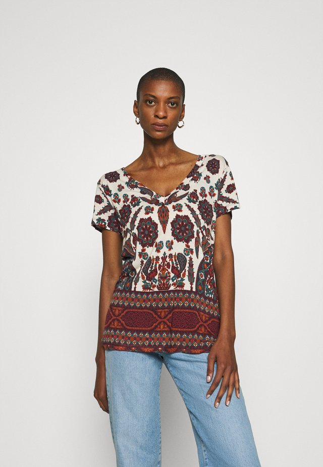 BENIN - T-shirt con stampa - offwhite