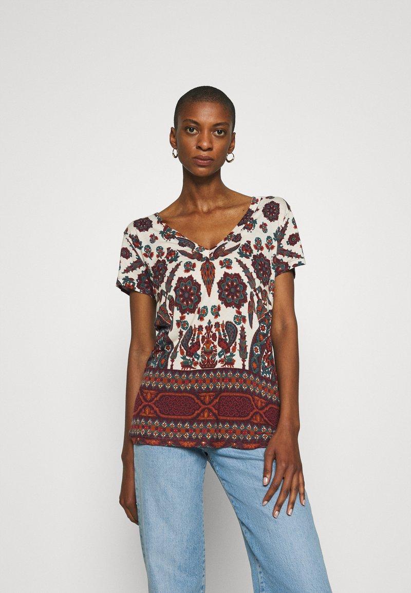 Desigual - BENIN - Camiseta estampada - offwhite