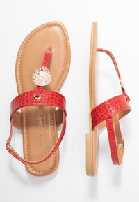 New Look Wide Fit - WIDE FIT HAMMER - tåsandaler - bright red - 3