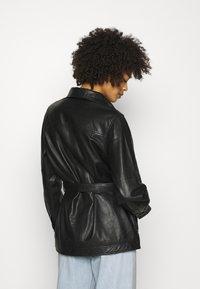 Part Two - HURI - Leather jacket - black - 2