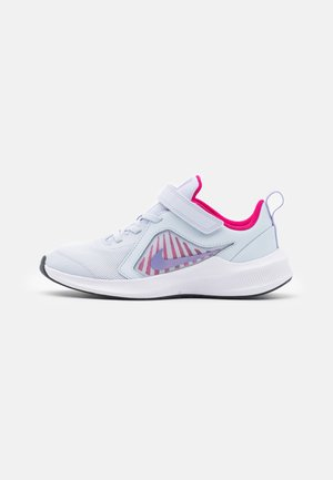 DOWNSHIFTER 10 UNISEX - Zapatillas de running neutras - football grey/purple pulse/thunder blue/white