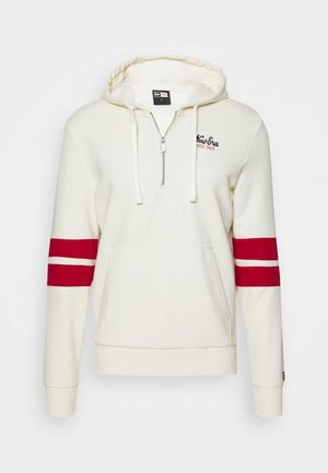 NEW ERA NEW ERAHERITAGE HALF ZIP HOODIE - Hoodie - white