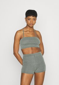 Missguided - TWO TONE CROSS BACK STRAP CYCLING SET - Shorts - mint - 0