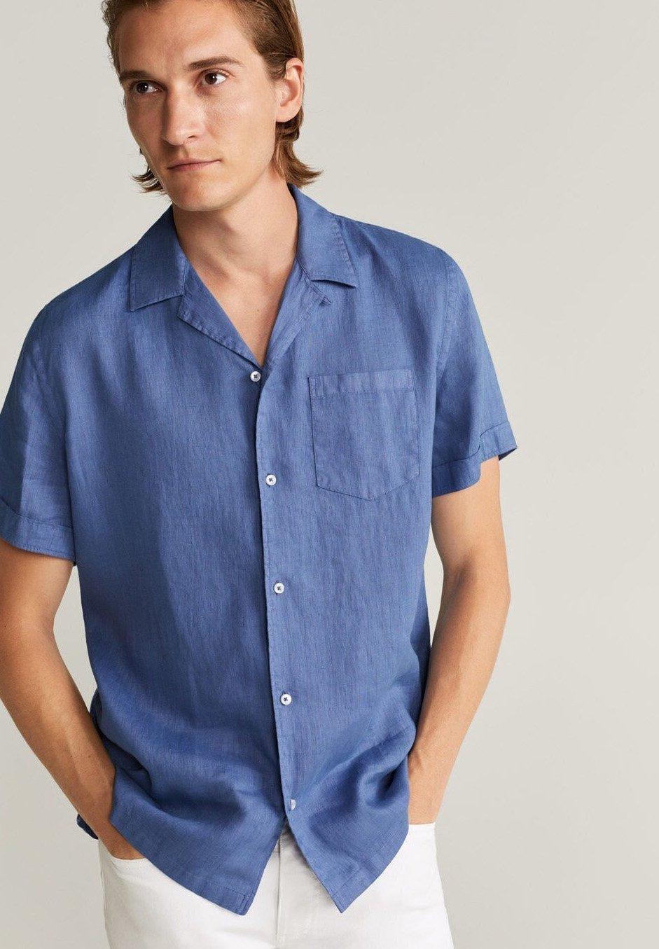 Mango Skjorte - bleu