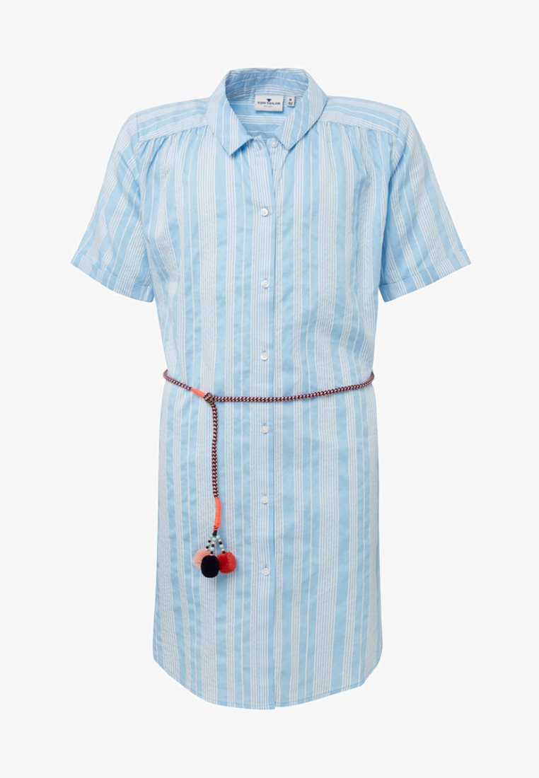TOM TAILOR - Shirt dress - light blue
