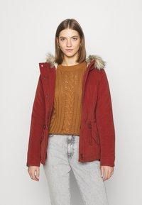 ONLY - ONLNEWLUCCA JACKET - Zimní kabát - fired brick - 0