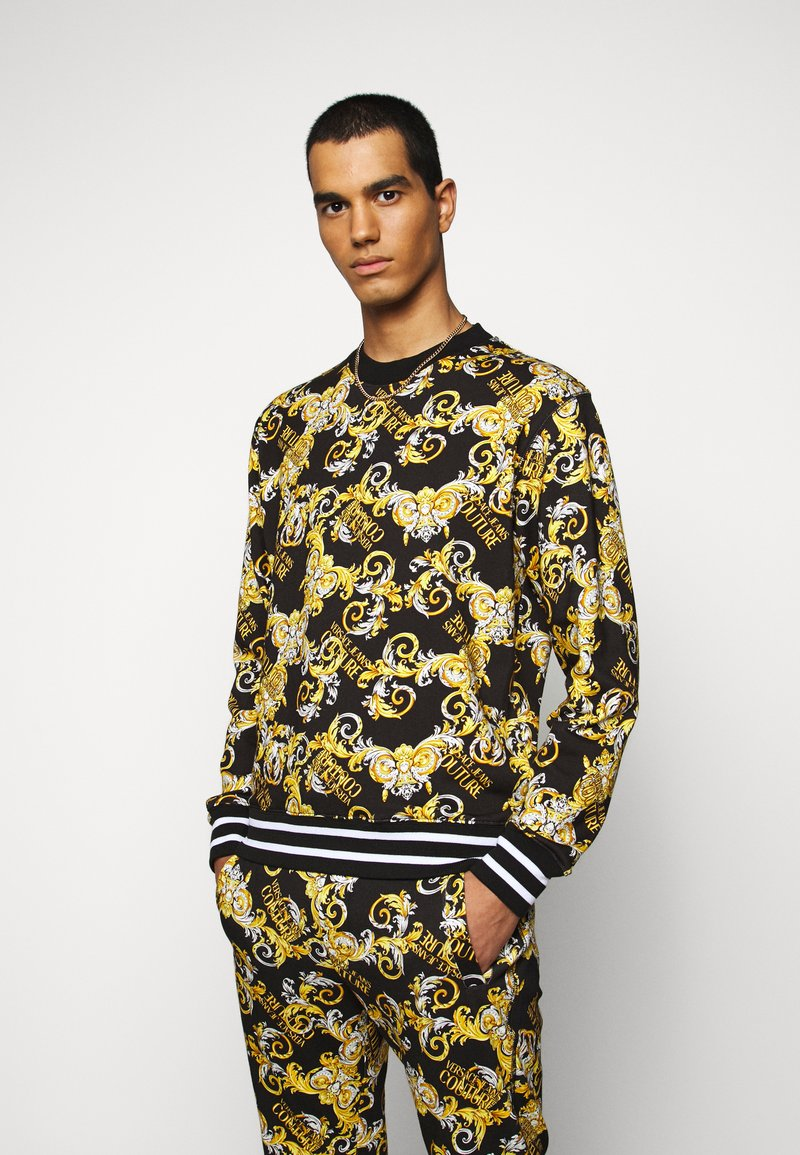 Versace Jeans Couture - PRINT NEW LOGO - Mikina - nero
