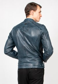 Freaky Nation - BLUERACY - Leather jacket - true navy - 5
