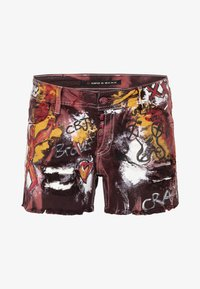 Cipo & Baxx - BRAVE - Denim shorts - burgundy - 6