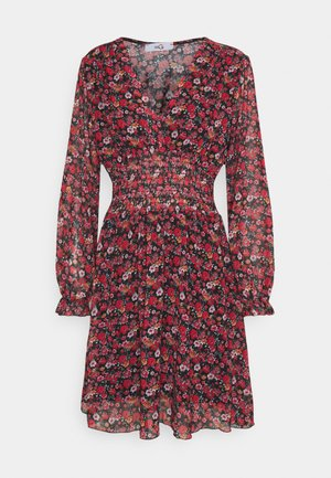 HANNAH PRINTED FROCK - Day dress - black/red