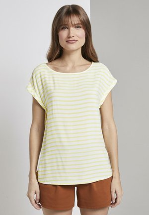 SPORTY ALL OVER PRINTED BLOUSE - Blouse - yellow white horizontal stripe