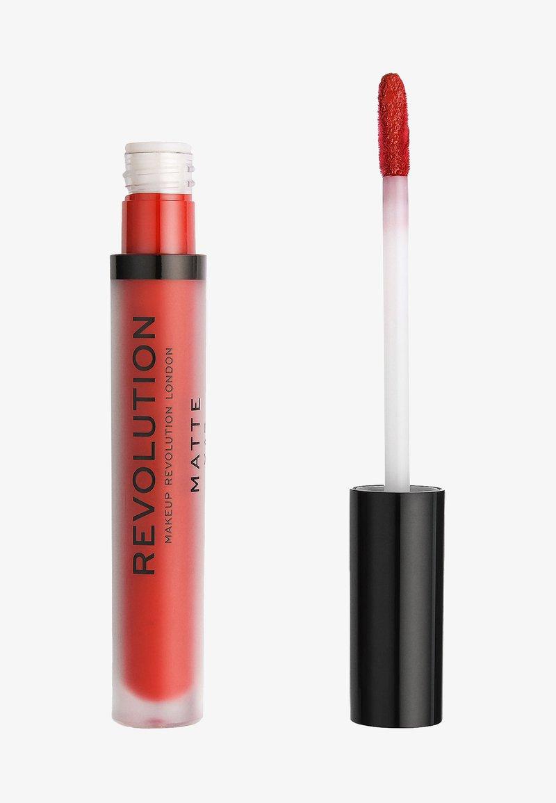 Make up Revolution - MATTE LIP - Liquid lipstick - ruby