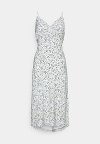 SLIP MIDI DRESS - Day dress - white