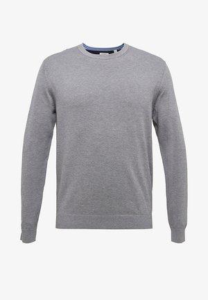 Stickad tröja - medium grey