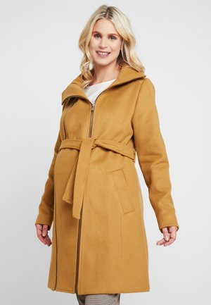 COAT DOUBLE ZIPPER - Classic coat - camel