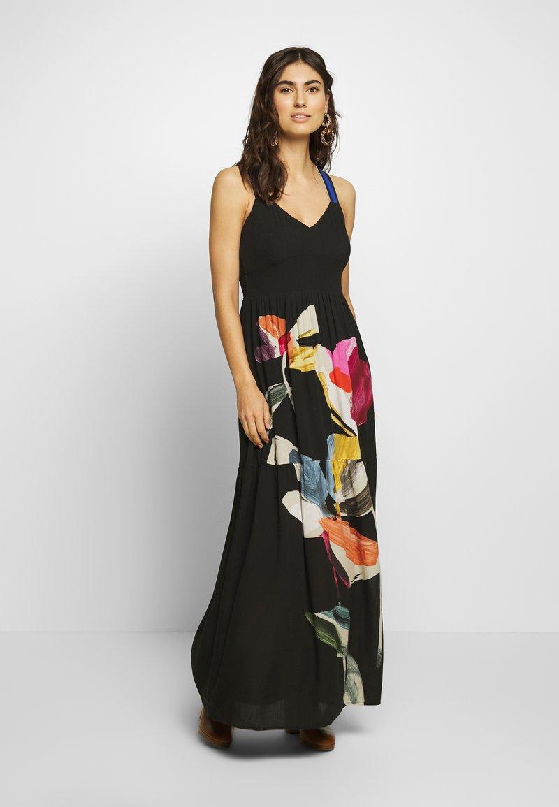 Desigual - VEST LISBOA - Robe longue - black