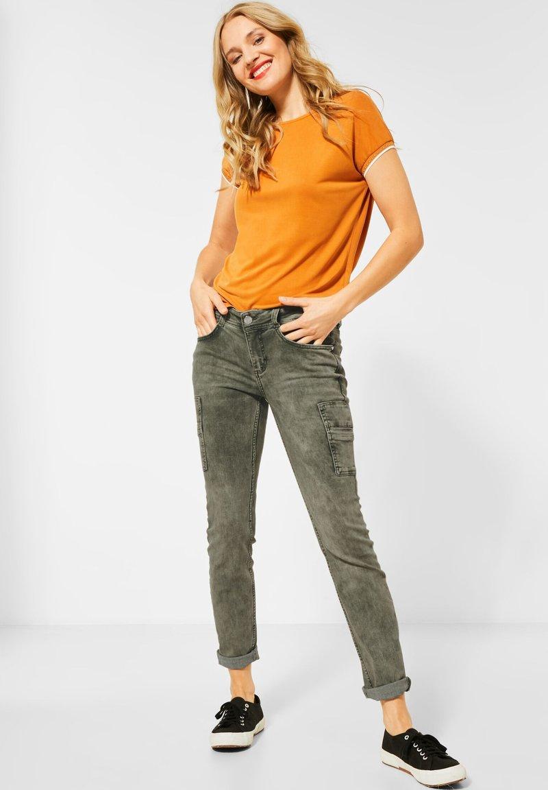 Street One - COLOUR-DENIM IM STYLE - Slim fit jeans - grün