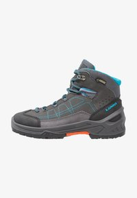 Lowa - APPROACH GTX MID JUNIOR - Walking boots - anthrazit/türkis - 0