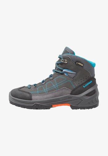 APPROACH GTX MID JUNIOR UNISEX - Hiking shoes - anthrazit/türkis