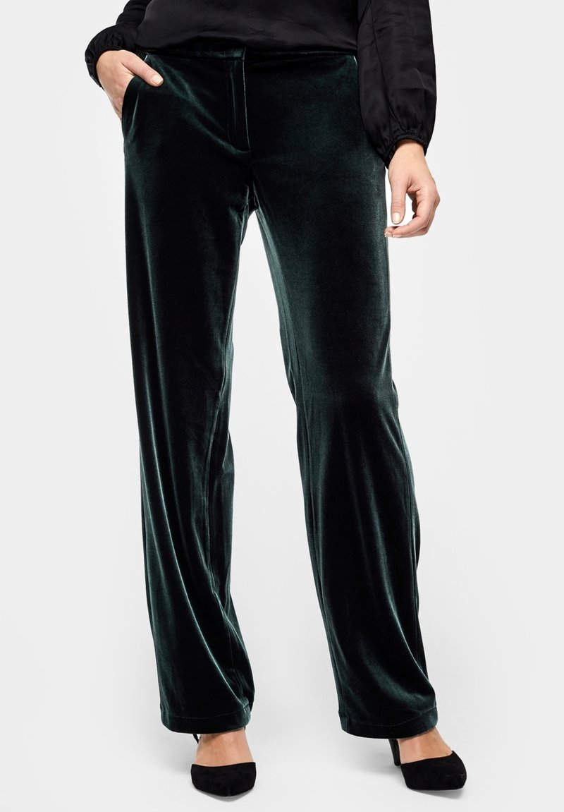 s.Oliver BLACK LABEL - Trousers - green