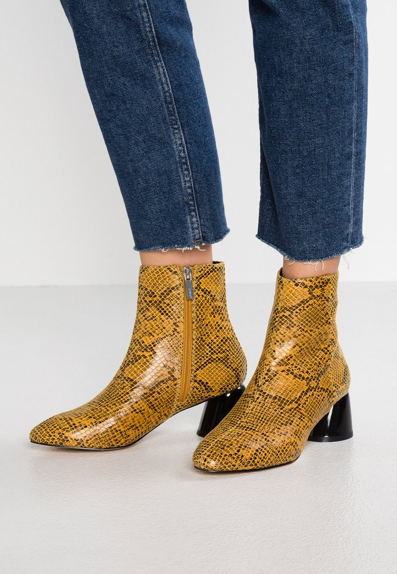 Topshop - BLAIR SMART BOOT - Classic ankle boots - yellow