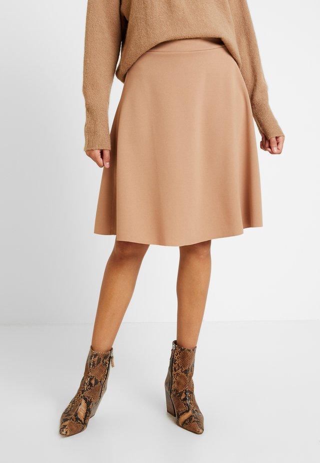MIDI SKIRT - A-line skirt - camel
