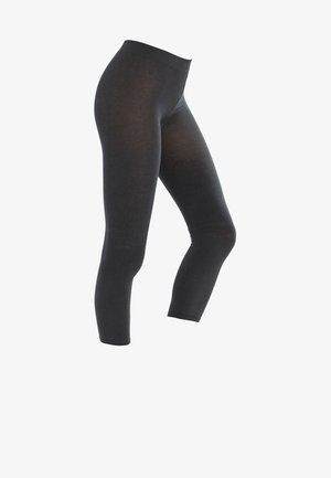 FALKE COTTON TOUCH LEGGINGS BLICKDICHT GLATT - Leggings - grigio