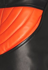 Just Cavalli - PANTALONE - Leather trousers - black/white - 2