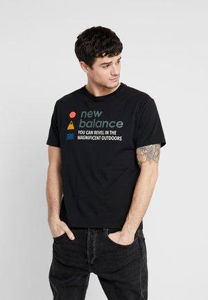 TRAIL TEE - T-shirt z nadrukiem - black