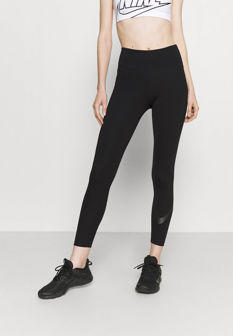 Nike Performance - NIKE ONE 7/8 - Legginsy - black/white