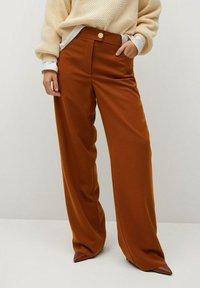 Violeta by Mango - TEJAS - Trousers - brown - 0