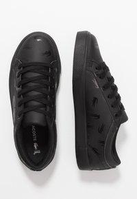 Lacoste - STRAIGHTSET - Zapatillas - black - 0