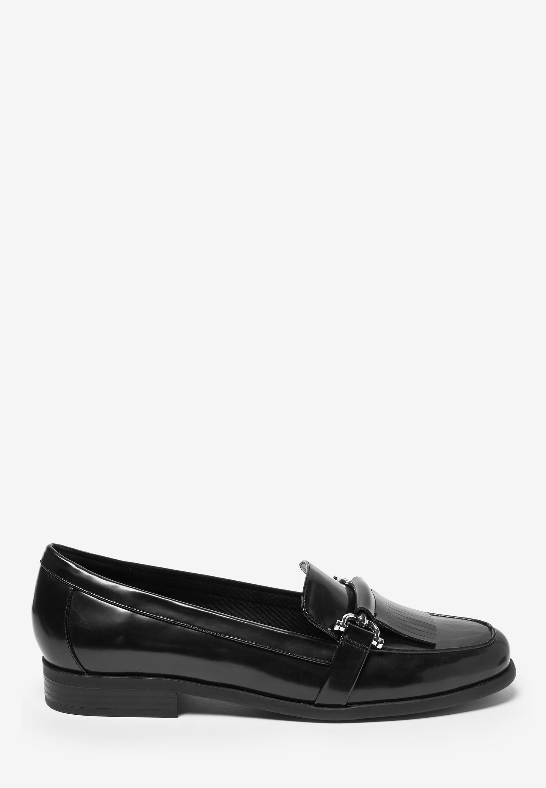 Next Navy Hardware Loafers - Półbuty Wsuwane Black