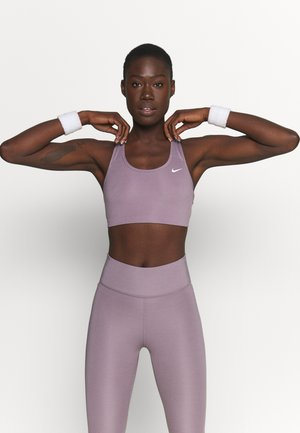 NON PADDED BRA - Medium support sports bra - purple smoke/white