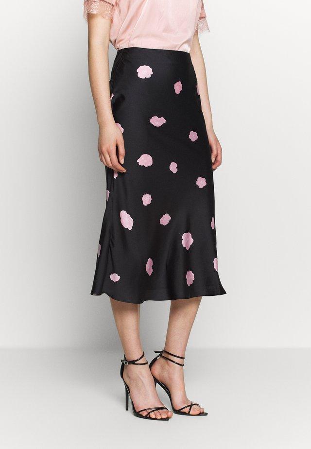 CARE MIDI SKIRT - A-line skirt - black