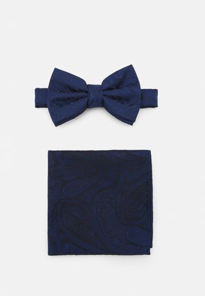 PAISLEY BOWTIE AND HANKIE SET - Fluga - navy