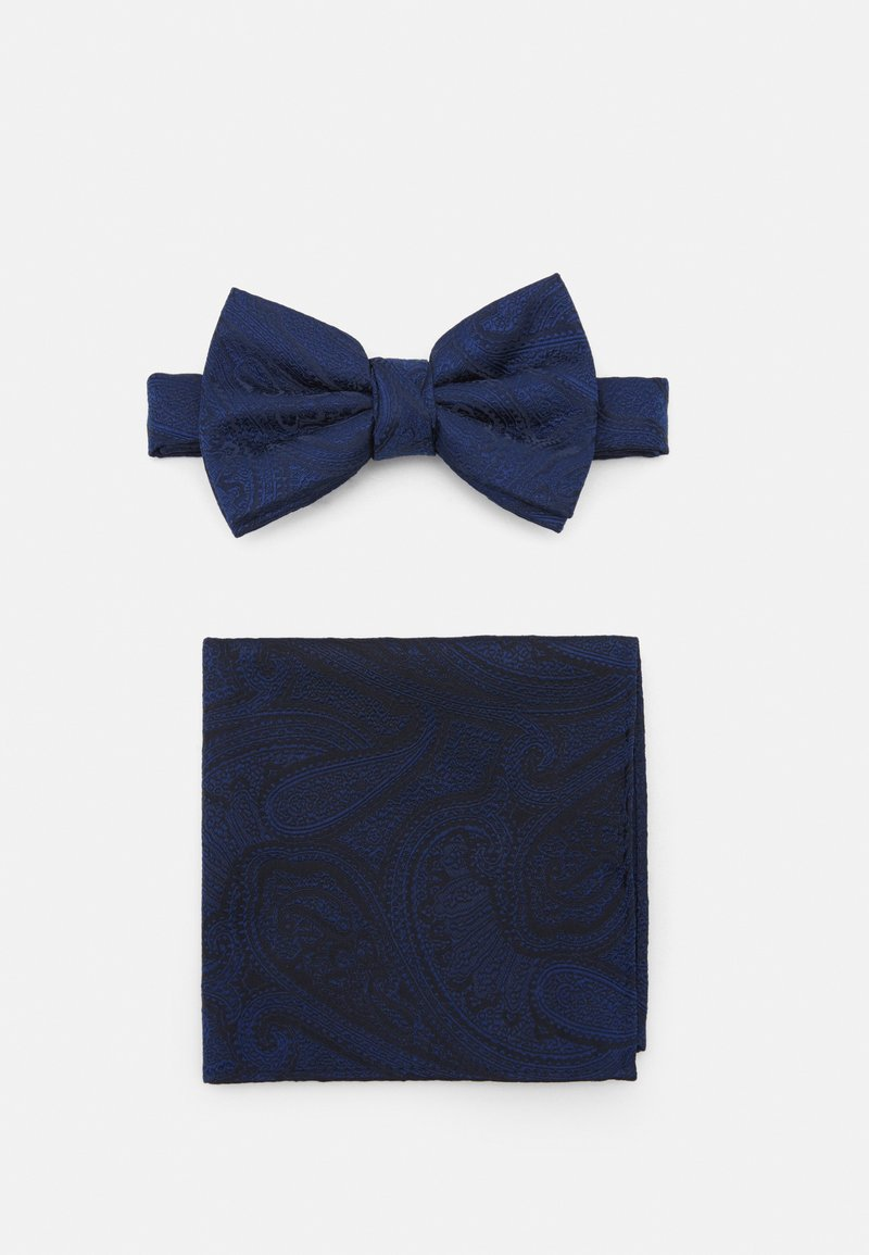 Burton Menswear London - PAISLEY BOWTIE AND HANKIE SET - Motýlek - navy