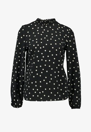 SHARON MONO SPOT SHELL - Bluse - black