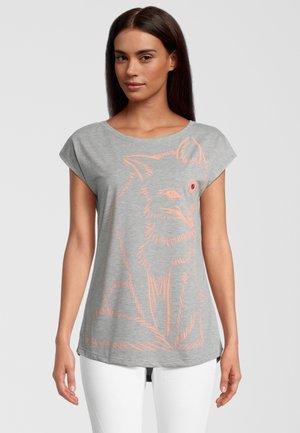Print T-shirt - grau/pink