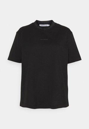 LOGO INTARSIE TEE - T-shirt z nadrukiem - black