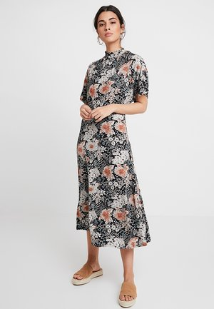 Žerzejové šaty - white/ pink,/black